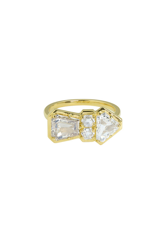 Julez Bryant 18K Yellow Gold Ramm Diamond Arrow Ring