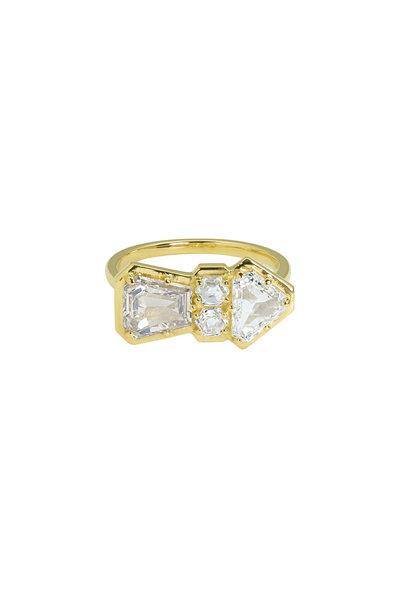 Julez Bryant - 18K Yellow Gold Ramm Diamond Arrow Ring