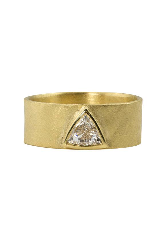 Julez Bryant 18K Yellow Gold Diamond Bezel Cuff