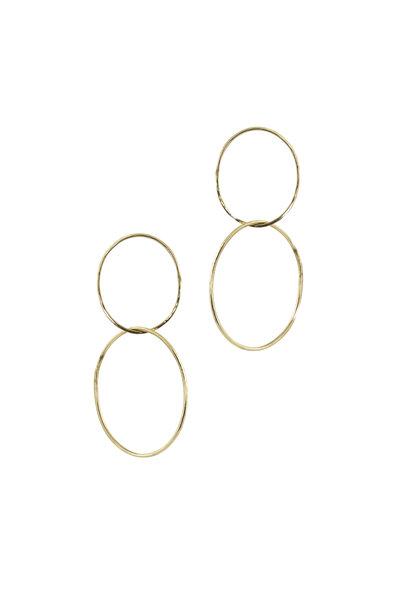 Julez Bryant - 14K Yellow Gold Double Hoop Earrings