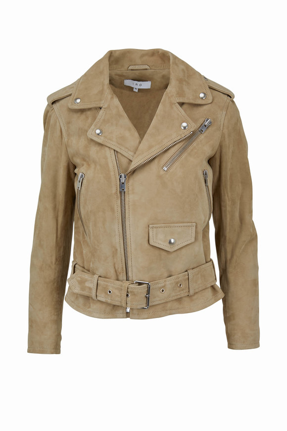 IRO Guape Light Khaki Suede Jacket