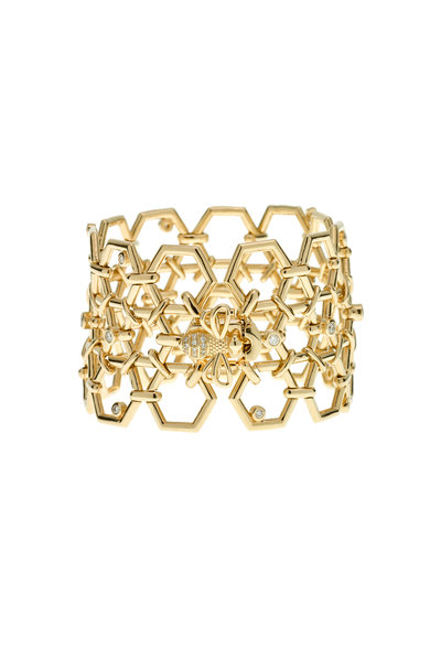Temple St. Clair - 18K Yellow Gold Beehive Link Bracelet
