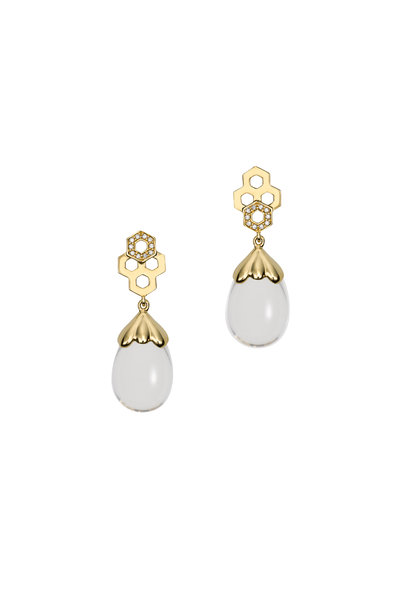 Temple St. Clair - 18K Yellow Gold Beehive Amulet Drop Earrings