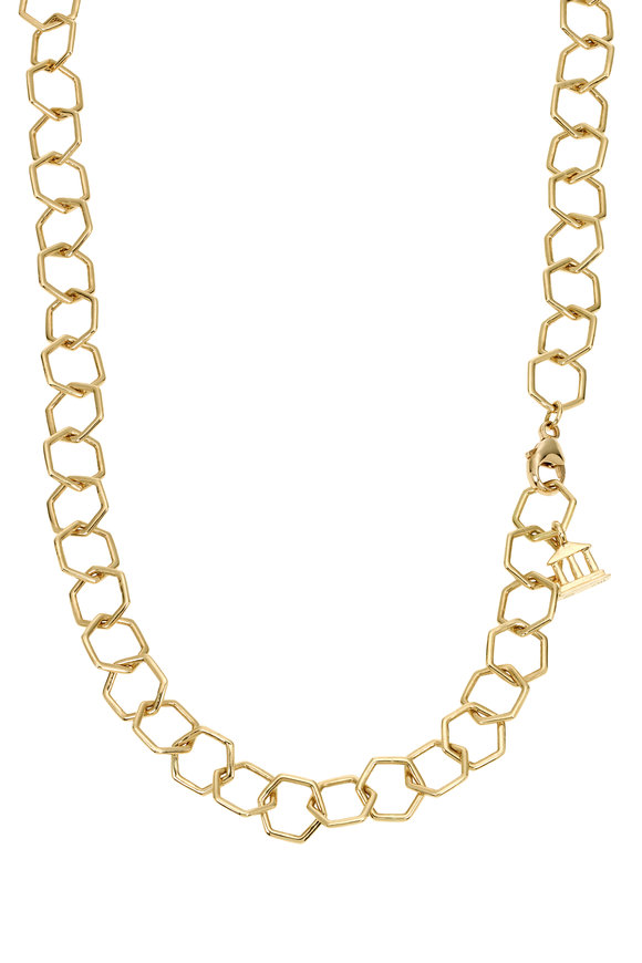 Temple St. Clair 18K Yellow Gold Small Hexagon Beehive Chain