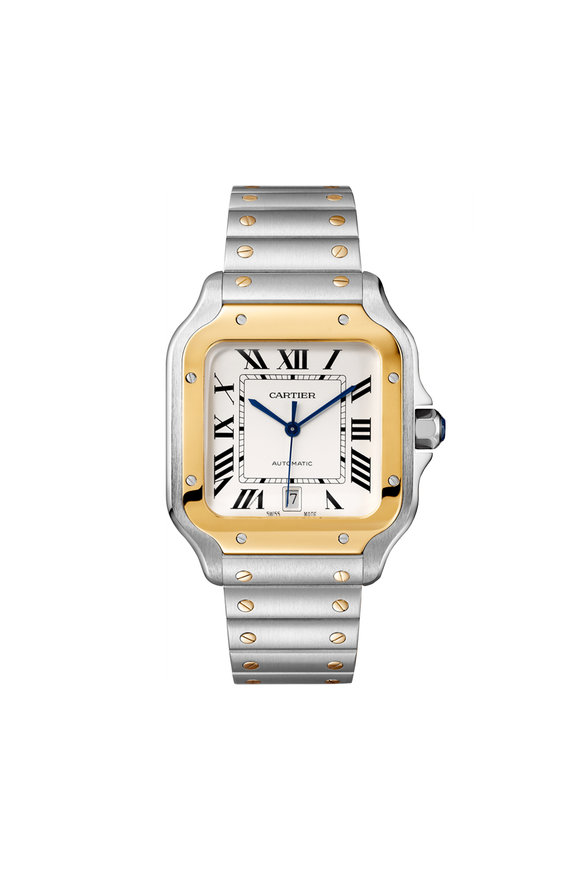 Cartier Santos de Cartier Steel & Gold Watch, 40mm