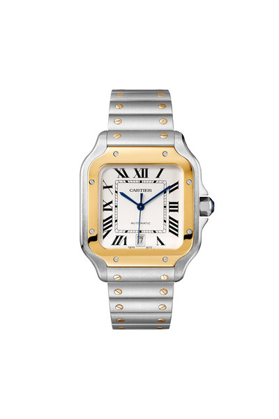 Cartier - Santos de Cartier Steel & Gold Watch, 40mm