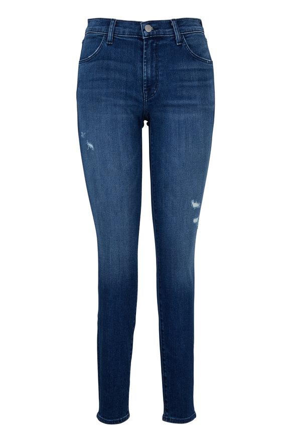 J Brand Denim Blue Mid-Rise Skinny Jean
