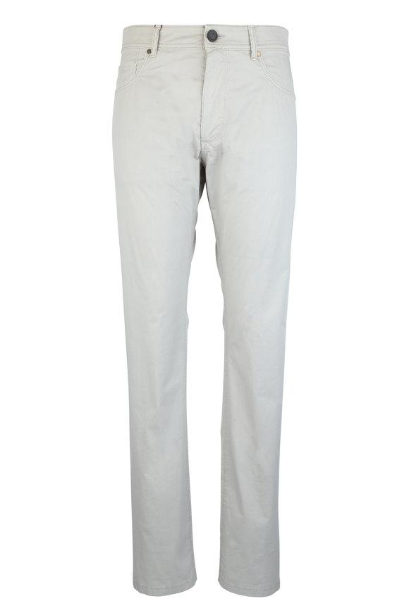 Luciano Barbera Khaki Stretch Cotton Five Pocket Pant