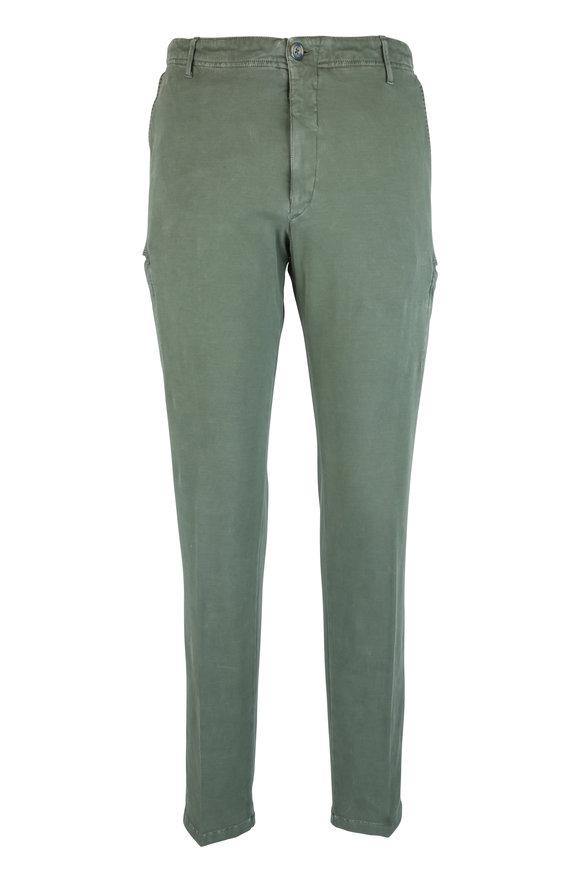 J.W. Brine New Drake Olive Green Stretch Cotton Cargo Pant