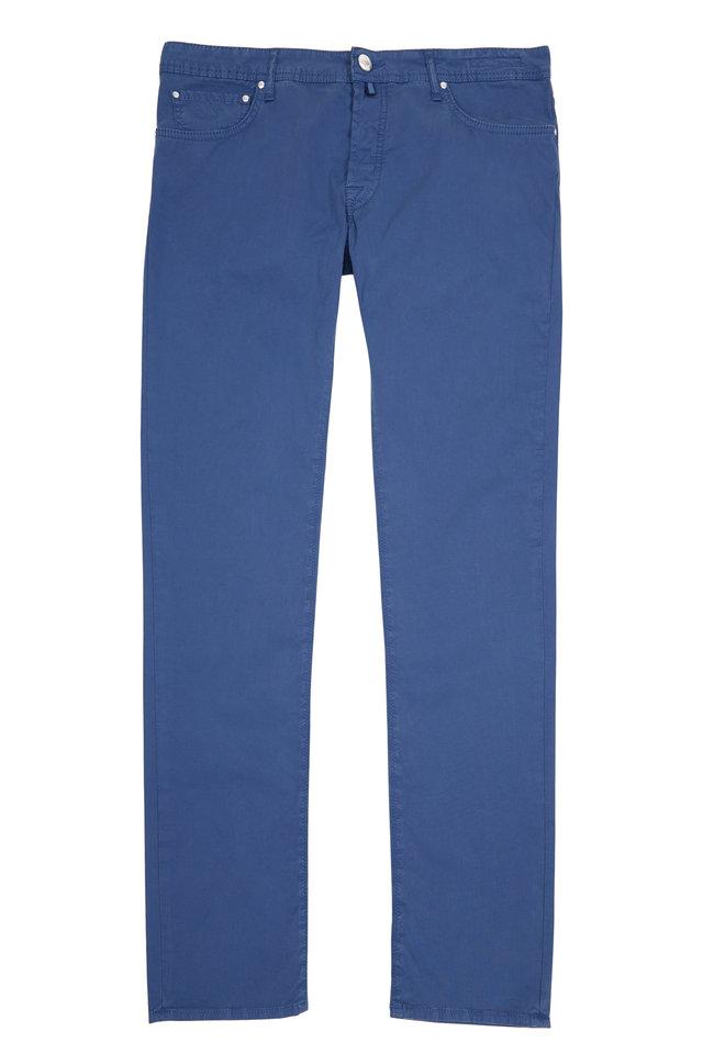 Blue Twill Straight Leg Jean