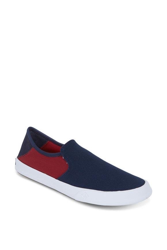 Sperry Striper II Navy & Red Slip-On Sneaker