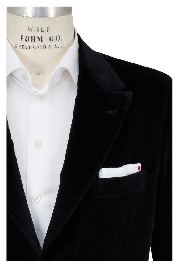 Kiton Black Velvet Dinner Jacket