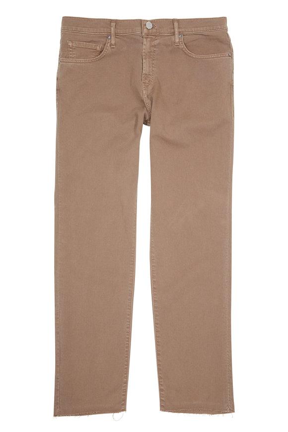 J Brand Eli Tan Premium Twill Raw Hem Jean