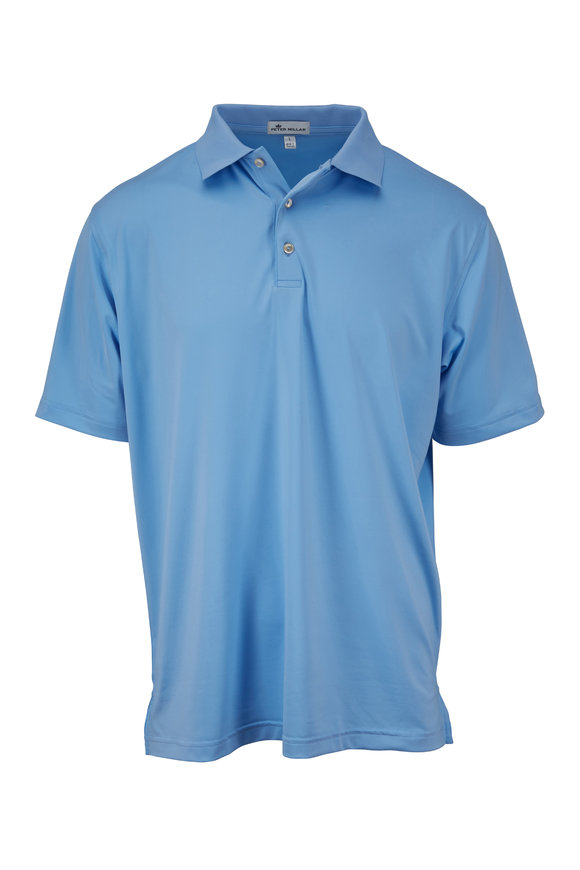 Peter Millar Cottage Blue Short Sleeve Polo