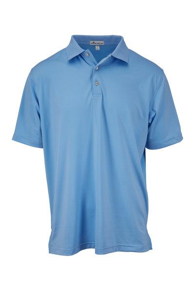 Peter Millar - Cottage Blue Short Sleeve Polo