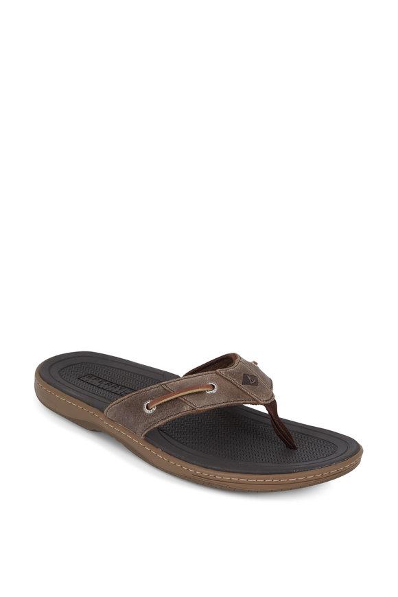 Sperry Baitfish Brown Thong Sandal