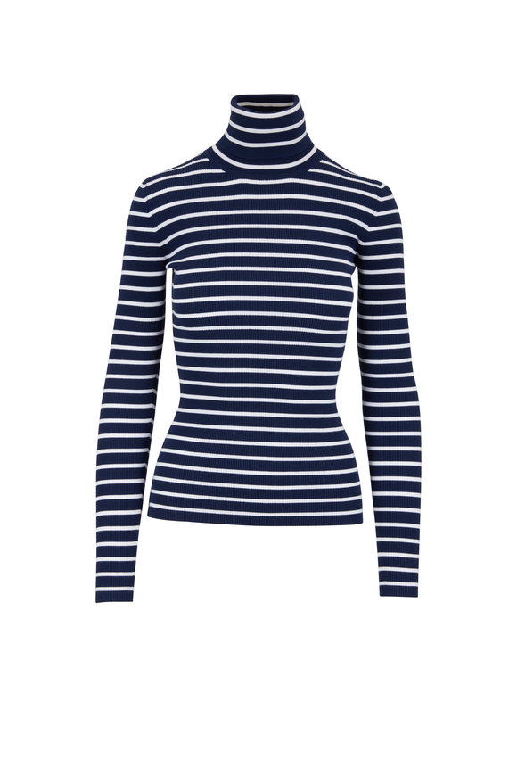 Michael Kors Collection Maritime & White Striped Turtleneck