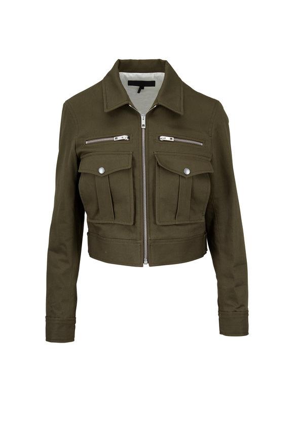 Rag & Bone Pike Dark Olive Cropped Jacket