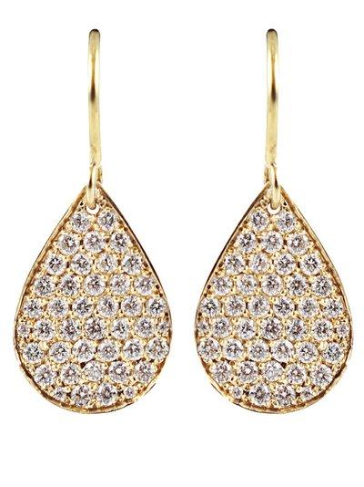 Irene Neuwirth - 18K Yellow Gold Diamond Pear Shape Earrings