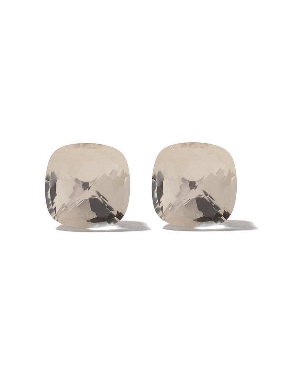 Pomellato 18K Rose Gold Nudo White Topaz Stud Earrings