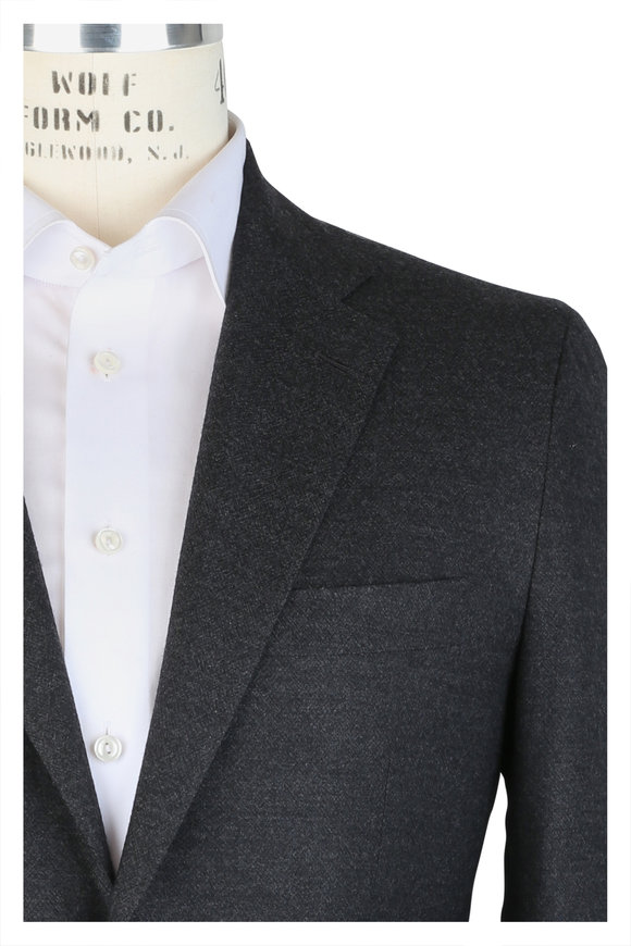 Kiton Charcoal Gray Stretch Cashmere Suit
