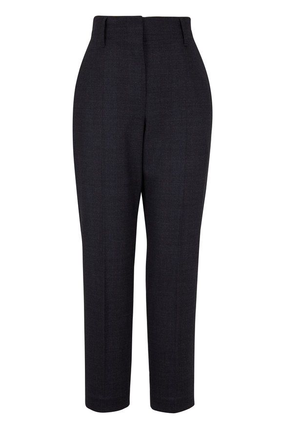 Brunello Cucinelli Anthracite Prince Of Wales Suit Pant