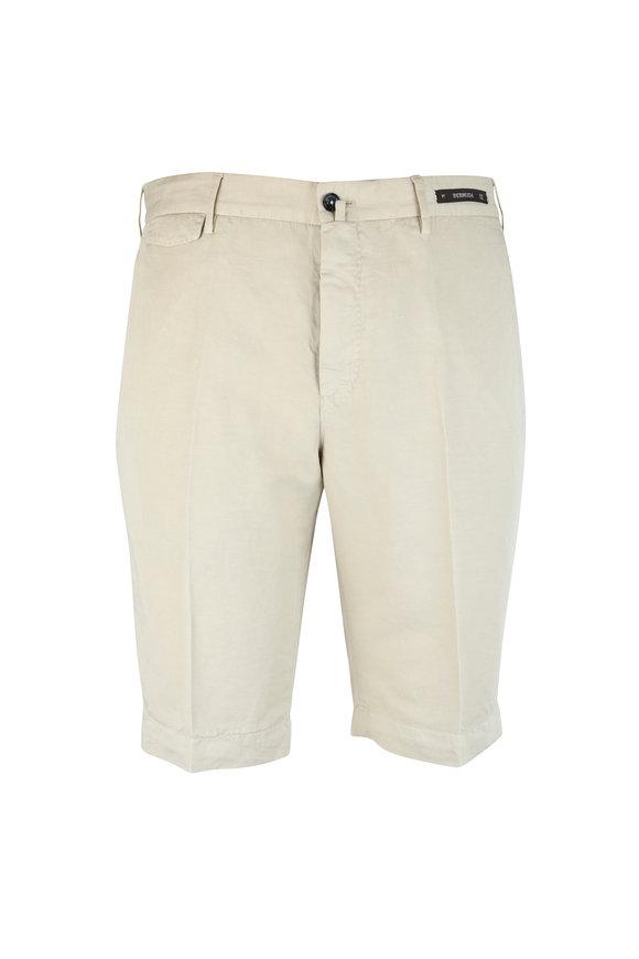 PT01 Khaki Linen & Cotton Bermuda Shorts