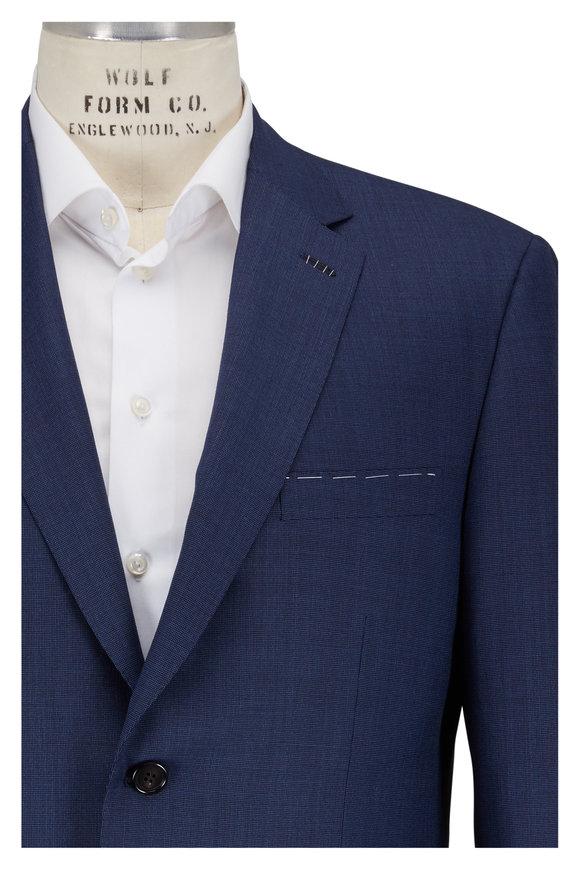 Brioni Dark Blue Wool Micro Textured Suit