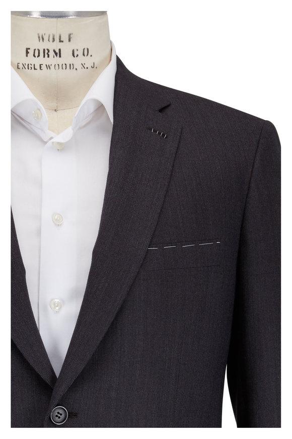Brioni Charcoal Gray Wool & Cashmere Tonal Plaid Suit