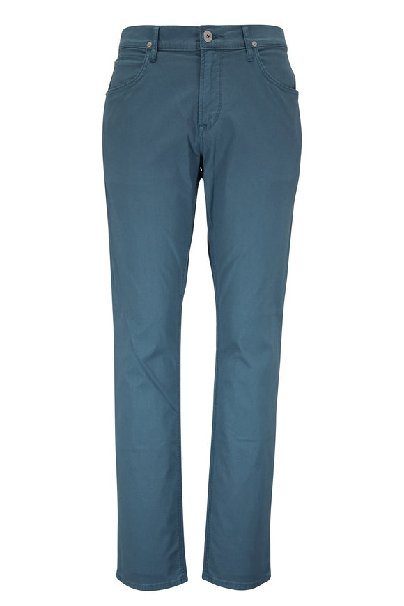 Hudson Clothing Blake Ocean Blue Slim Straight Pant