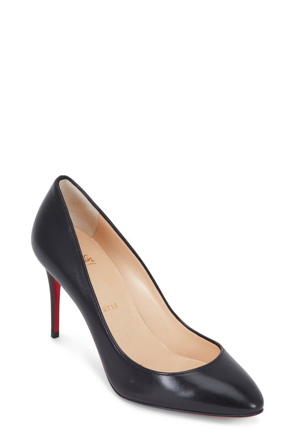 Christian Louboutin Eloise Black Nappa Leather Pump, 85mm