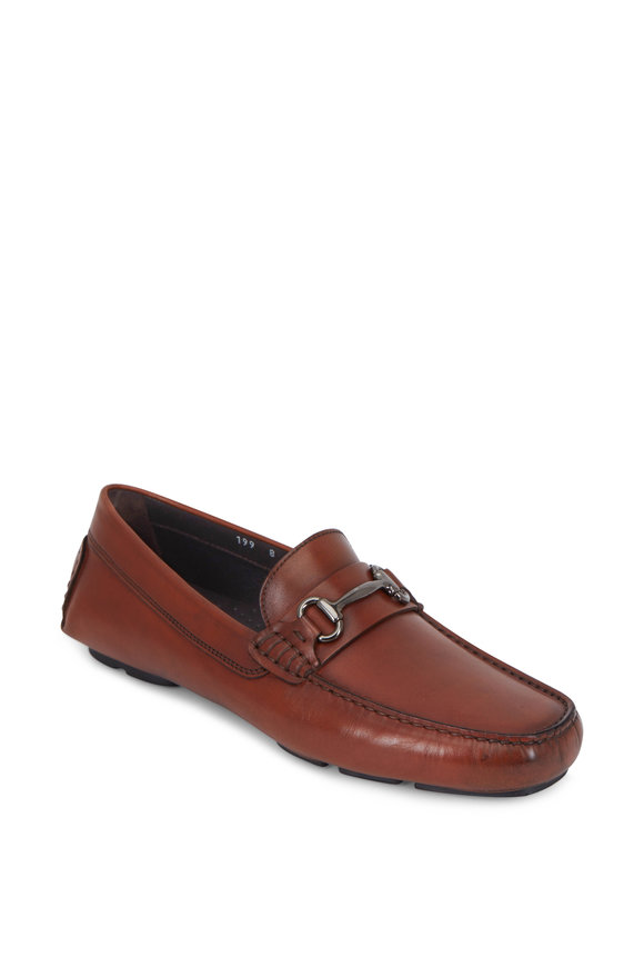 To Boot New York Del Amo Cognac Leather Bit Loafer