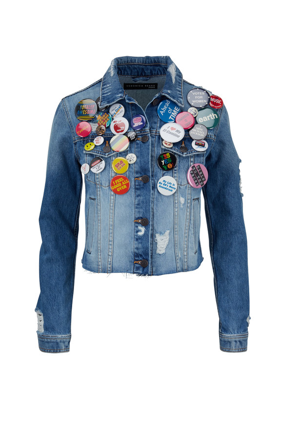 Veronica Beard Cara Pinned Jean Jacket