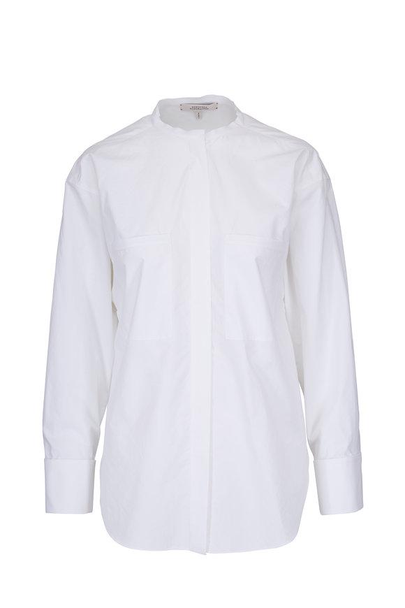 Dorothee Schumacher Daydream White Cotton Button Sleeve Detail Shirt
