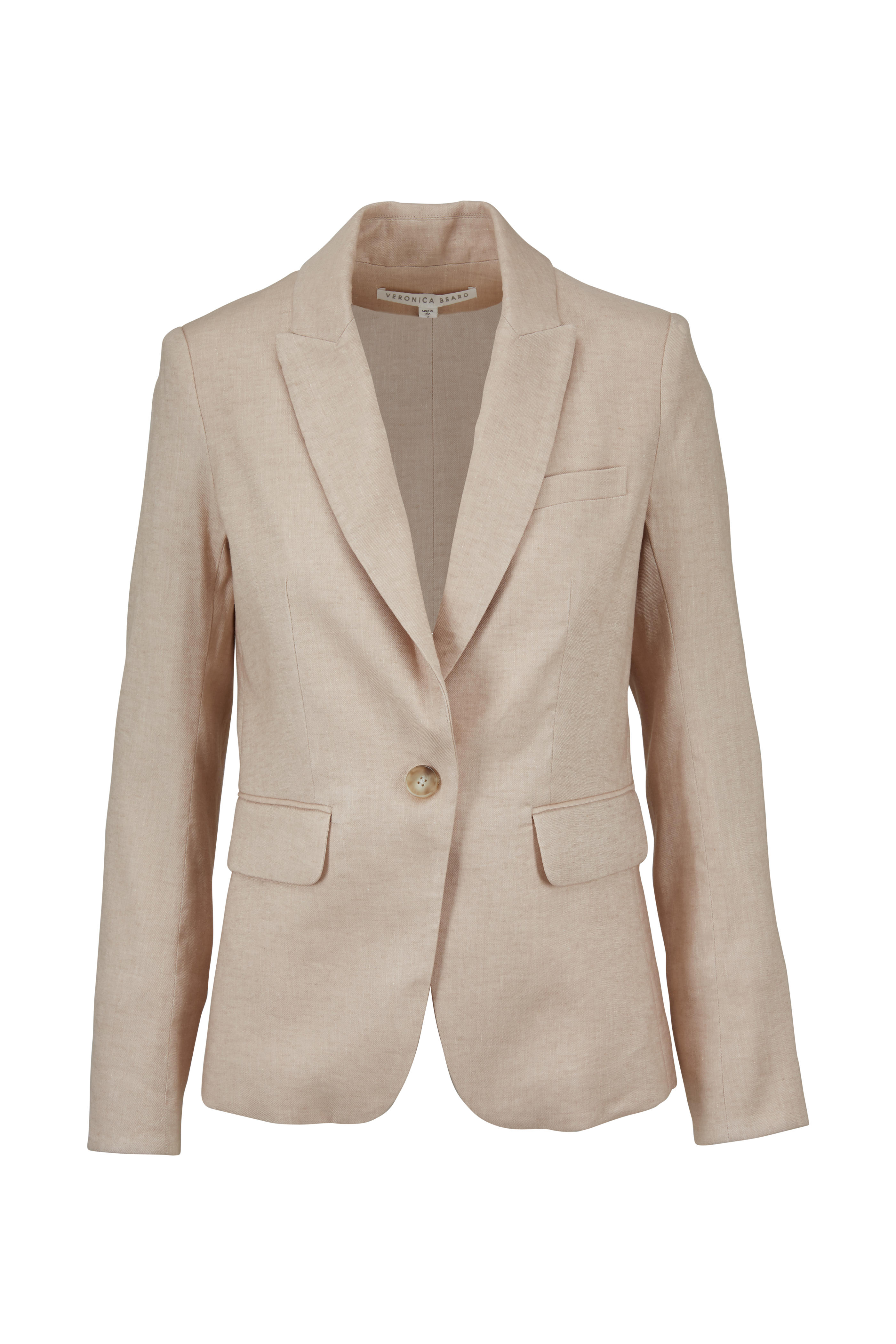 6297644a1ff5 Veronica Beard - Beige Linen Blend Cutaway Jacket | Mitchell Stores