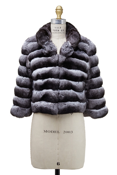 Oscar de la Renta Furs - Black & White Chinchilla Jacket