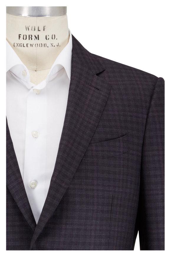Ermenegildo Zegna Charcoal & Navy Check Wool Sportcoat