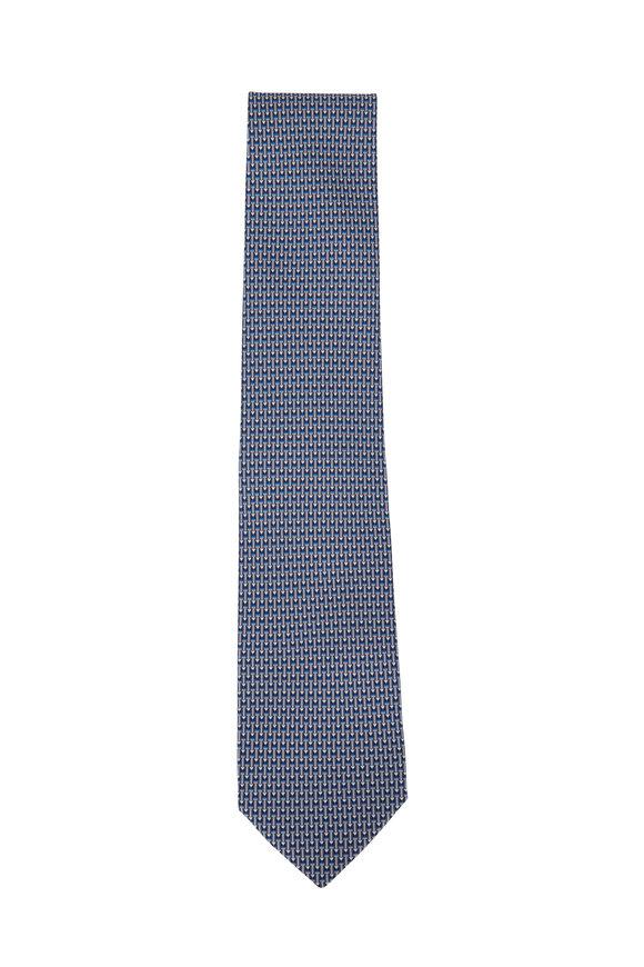 Salvatore Ferragamo Gray Pencil Silk Necktie