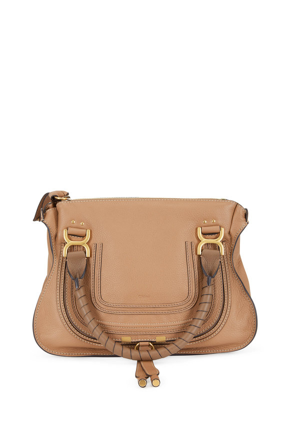 Chloé Marcie Nutmeg Leather Medium Shoulder Bag