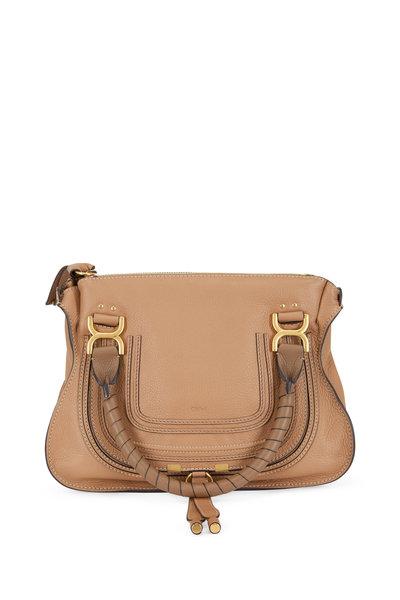 Chloé - Marcie Nutmeg Leather Medium Shoulder Bag