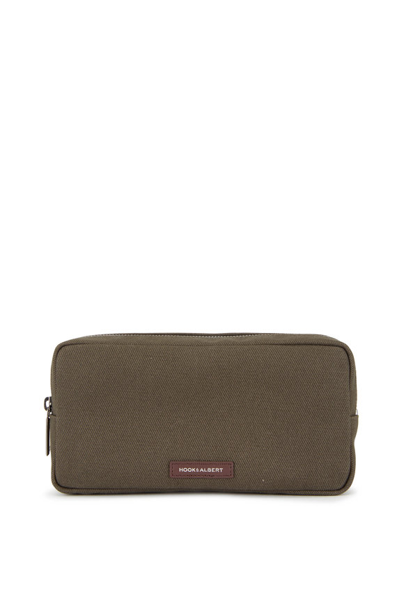 Hook + Albert Dark Olive Twill Dopp Kit