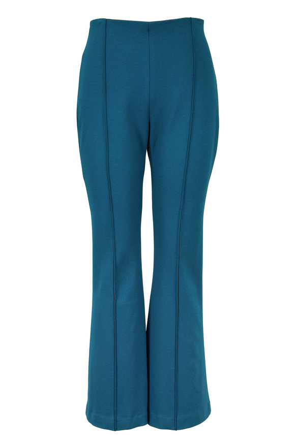 Rosetta Getty Teal Crop Flare Pull-On Pant