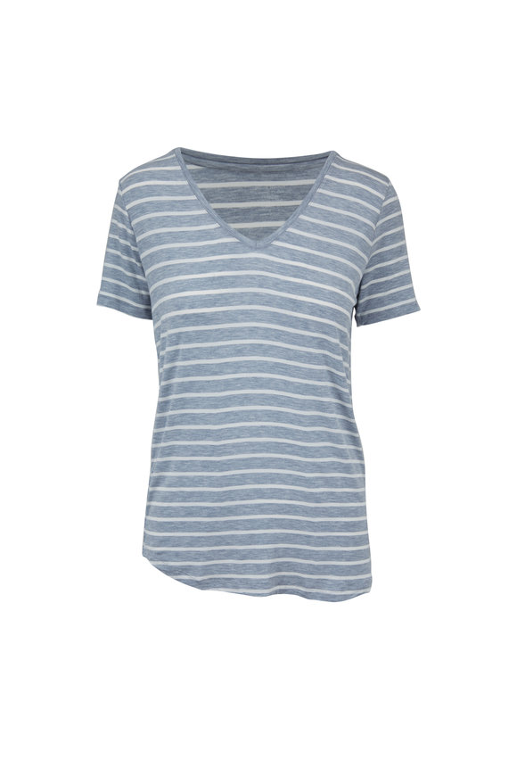 Majestic Blue & White Striped Superwashed Top
