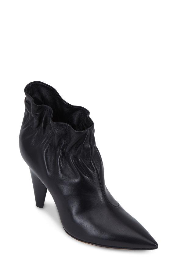 Derek Lam Saskia Black Leather Ankle Boot, 90mm