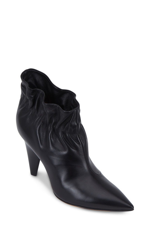 Derek Lam Saskia Black Leather Ankle Boot, 90mm