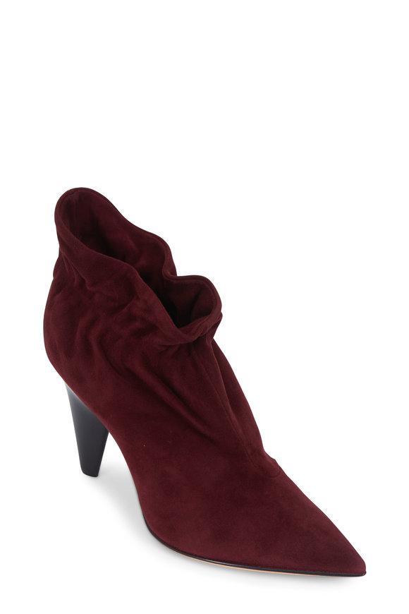 Derek Lam Saskia Bordeaux Suede Ankle Boot, 90mm
