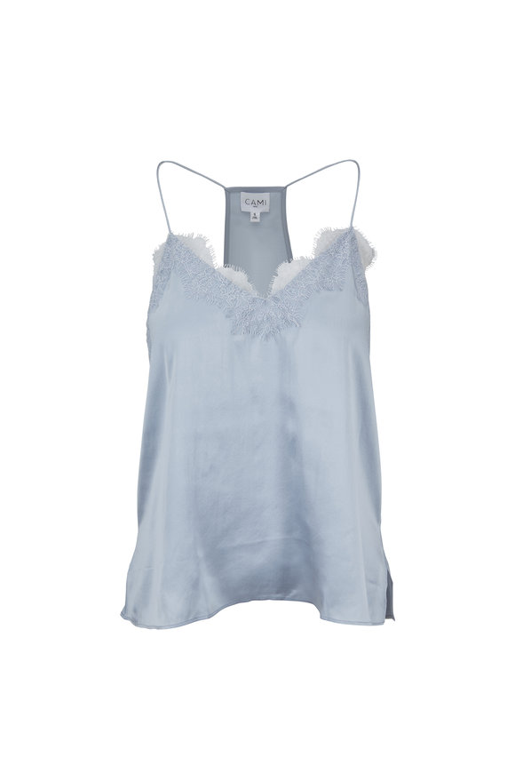 Cami NYC The Racer Sky Blue Charmeuse Cami