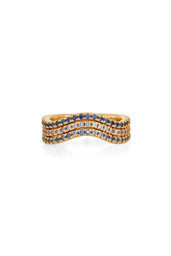 Sandy Leong 18K Yellow Gold Twilight Ombre Stack Rings