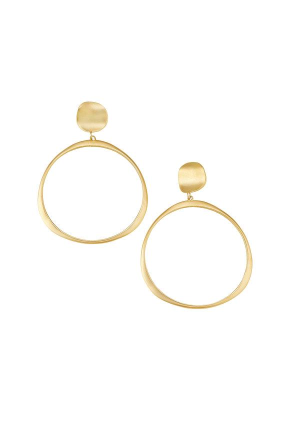 Sandy Leong 18K Yellow Gold Origin Large Hoop Earrings