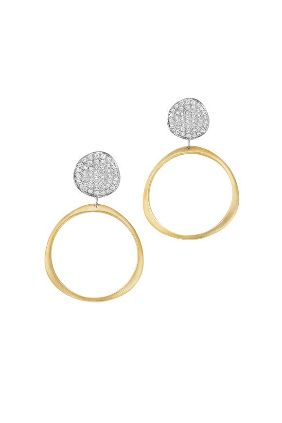 Sandy Leong 18K Yellow Gold Origin Medium Hoop Earrings